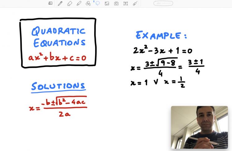 Example tele-tutoring session